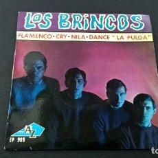Discos de vinilo: LOS BRINCOS-FLAMENCO + 3 -EP -EDICION FRANCESA-DISQUES VOGUE-EP 989-N. Lote 90966375