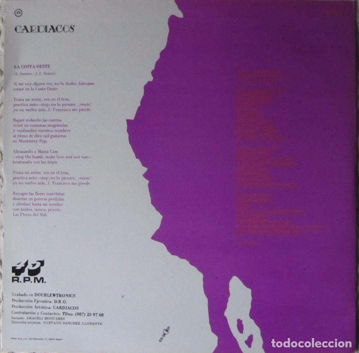 Discos de vinilo: CARDIACOS: LA COSTA OESTE / SILENCIO EN EL DIAL - Foto 2 - 90969830