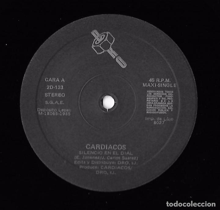 Discos de vinilo: CARDIACOS: LA COSTA OESTE / SILENCIO EN EL DIAL - Foto 4 - 90969830