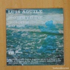 Discos de vinilo: LUIS AGUILE - ALFONSINA Y EL MAR / ZAMBA PARA UN AMOR LEJANO - SINGLE. Lote 90985107