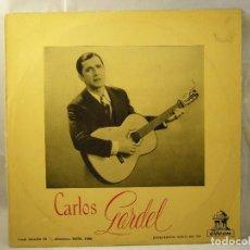 Discos de vinilo: CARLOS GARDEL (LP) RECONSTRUCCION TECNICA AÑO 1956 . Lote 90999515