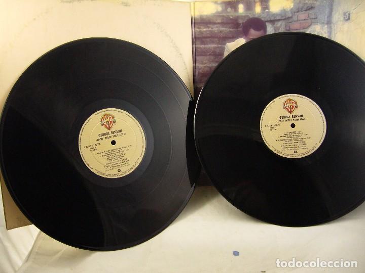 Discos de vinilo: LP VINILO GEORGE BENSON - LIVIN INSIDE YOUR LOVE 2 LPS - Foto 6 - 90999975
