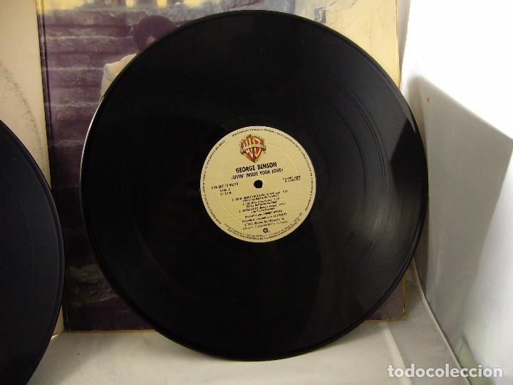 Discos de vinilo: LP VINILO GEORGE BENSON - LIVIN INSIDE YOUR LOVE 2 LPS - Foto 7 - 90999975