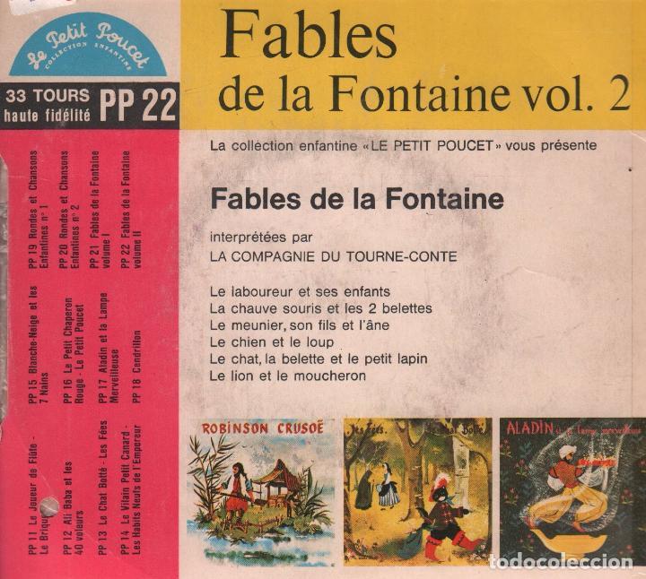 Discos de vinilo: FABLES DE LA FONTAINE VOLUME 2 / EP LE PETIT POUCET / RF-2704 - Foto 2 - 91230735