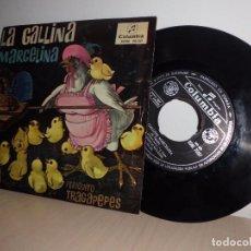 Discos de vinilo: LA GALLINA MARCELINA-PERIQUITO TRAGAPEPES- COLUMBIA -AÑO 1962. Lote 91251005