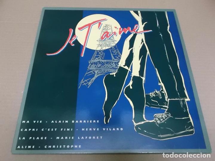 ALAIN BARRIERE, HERVE VILARD, MARIE LAFORET, CHRISTHOPE (MX) MA VIE +3 TRACKS (JE T'AIME) AÑO 1992 (Música - Discos de Vinilo - Maxi Singles - Canción Francesa e Italiana)