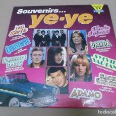 Discos de vinilo: SOUVENIRS… YE-YE (LP) B. BARDOT, S. VARTAN, F. HARDY, DALIDA, F. GALL, LES SURFS… AÑO 1991 – DOBLE D. Lote 91288345