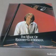 Discos de vinilo: RICHARD CLAYDERMAN (LP) THE MAGIC OF RICHARD CLAYDERMAN AÑO 1982 – DOBLE DISCO CON PORTADA ABIERTA –. Lote 91291240