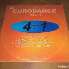 Discos de vinilo: EURODANCE VOL. 1. Lote 91311830