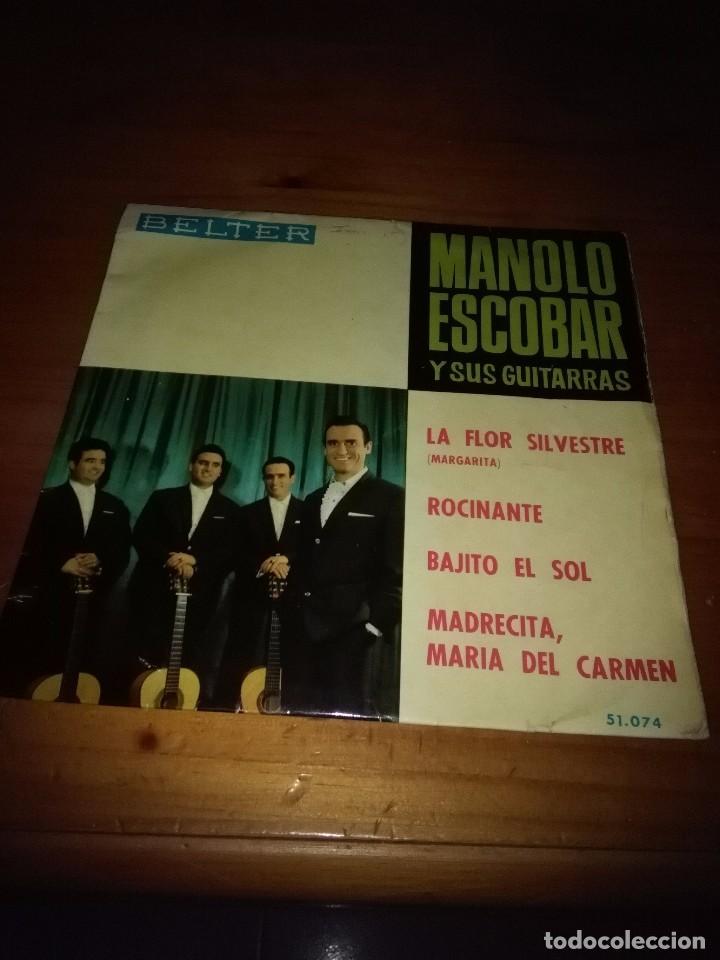 MANOLO ESCOBAR Y SUS GUITARRAS. LA FLOR SILVESTRE. MB2 (Música - Discos de Vinilo - EPs - Flamenco, Canción española y Cuplé)