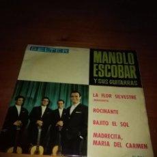 Discos de vinilo: MANOLO ESCOBAR Y SUS GUITARRAS. LA FLOR SILVESTRE. MB2. Lote 91327015