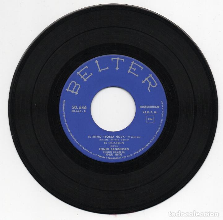 Discos de vinilo: DISCO EP 45 RPM - ENNIO SANGIUSTO (BELTER 50646) - Foto 2 - 91376875