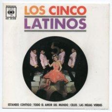 Discos de vinilo: DISCO EP 45 RPM - LOS CINCO LATINOS (AGS 20038). Lote 91378190