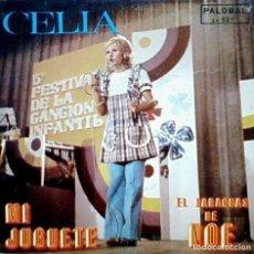 Discos de vinilo: CELIA - MI JUGUETE / EL PARAGÜAS DE NOÉ - SG PALOBAL 1973 - CANCION INFANTIL. Lote 10369642