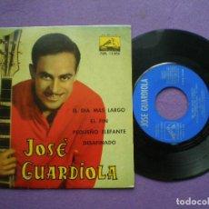Discos de vinilo: JOSE GUARDIOLA - EL DIA MAS LARGO +3 -EP LA VOZ DE SU AMO 1962. Lote 91387925