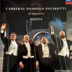 Discos de vinilo: CARRERAS DOMINGO PAVAROTTI EN CONCIERTO CON MEHTA. Lote 91430512