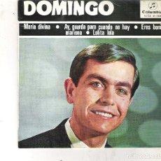 Discos de vinilo: 45 RPM - SINGLE O DISCO VINILO - AÑO 1965 - DOMINGO ( MARIA DIVINA - AY GUARDA PARA CUANDO NO HAY ET. Lote 91456634