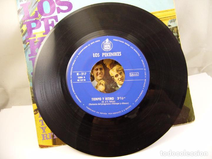 Discos de vinilo: LOS PEKENIKES EMBUSTERO Y BAILARIN / TIEMPO Y RITMO (1967 HISPAVOX ESPAÑA) - Foto 4 - 91457495