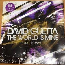 Discos de vinilo: MAXI DAVID GUETTA / THE WORLD IS MINE /BLACKSTROBE / ALBUM VERSION / CLAMARAN DUB . Lote 91461250