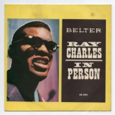 Discos de vinilo: DISCO EP 45 RPM - RAY CHARLES (BELTER 50383). Lote 91472175