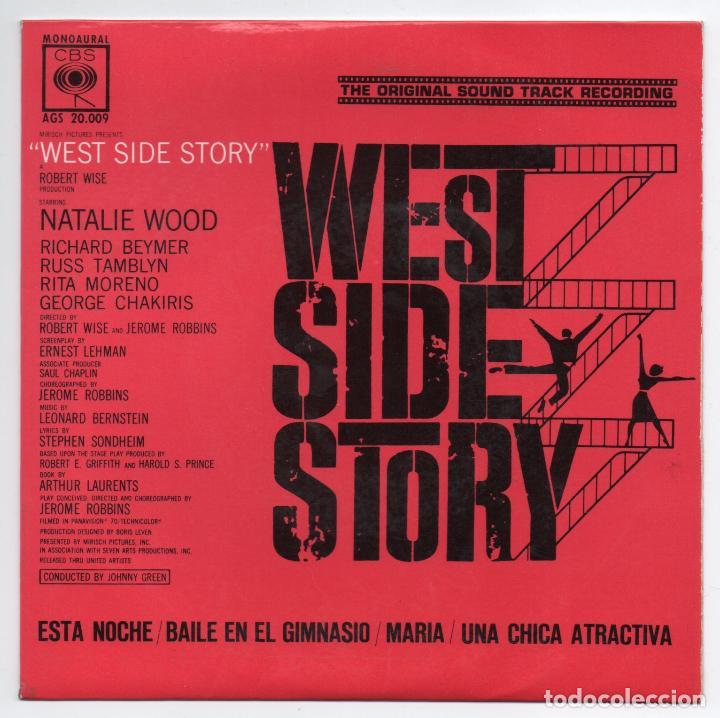 DISCO EP 45 RPM - WEST SIDE STORY (AGS 20009) (Música - Discos de Vinilo - EPs - Bandas Sonoras y Actores)