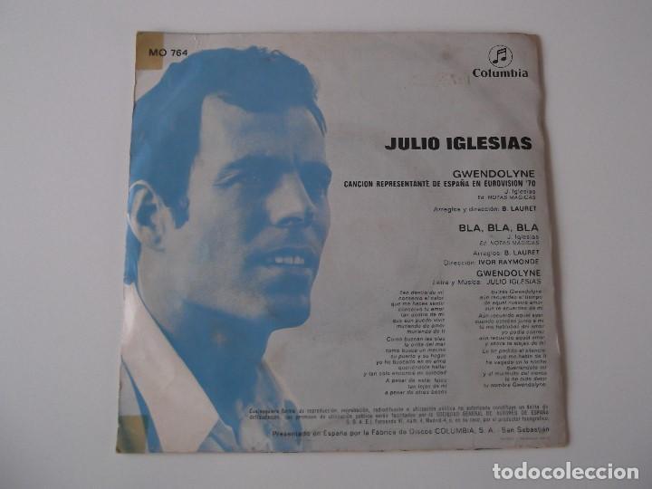 Discos de vinilo: JULIO IGLESIAS - Gwendolyne - Foto 2 - 91496055