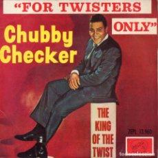 Discos de vinilo: CHUBBY CHECKER, EP, LA PALOMA TWIST + 3, AÑO 1963. Lote 91524025
