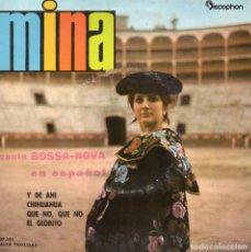 Discos de vinilo: MINA CANTA EN ESPAÑOL BOSSA-NOVA, EP, Y DE AHI + 3, AÑO 1962. Lote 91525275