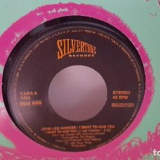 Discos de vinilo: SINGLE - JOHN LEE HOOKER - I WANT TO HUG YOU - SILVERTONE RECORDS 0423 - 1991 - PROMO. Lote 91543560