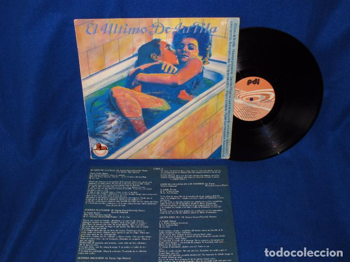 El Ultimo De La Fila Nuevas Mezclas Lp 1987 Inserto Con Las Letras