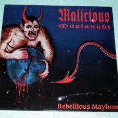 Discos de vinilo: LP MALICIOUS ONSLAUGHT - REBELLIOUS MAYHEM. Lote 91597345