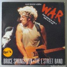 Discos de vinilo: BRUCE SPRINGSTEEN & THE E STREET BAND WAR VINYL 45 RPM, MAXI-SINGLE 1986 CBS 650193 6 . Lote 91605640