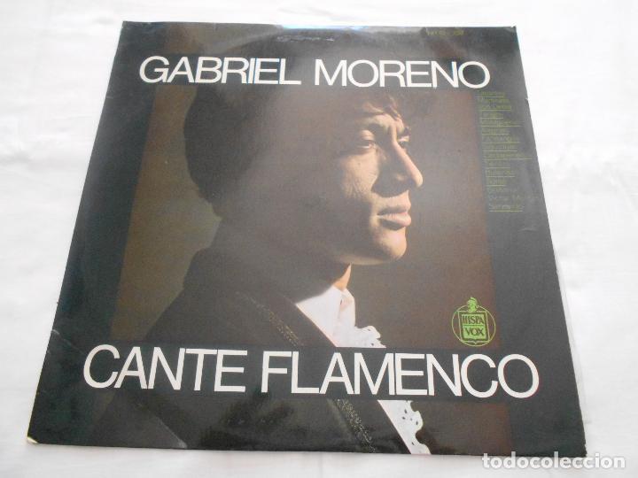 GABRIEL MORENO // CANTE FLAMENCO // AÑO 1967 (Música - Discos - LP Vinilo - Flamenco, Canción española y Cuplé)