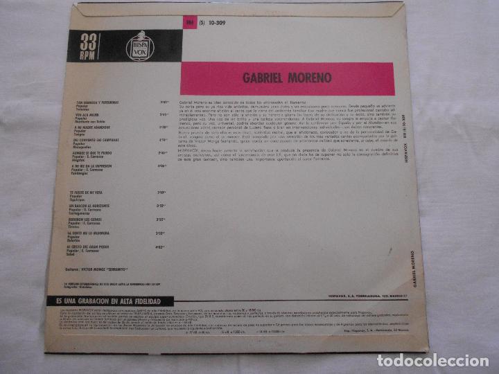 Discos de vinilo: GABRIEL MORENO // CANTE FLAMENCO // AÑO 1967 - Foto 2 - 91643550