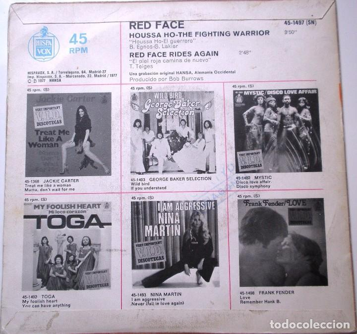 Discos de vinilo: RED FACE HOUSSE HO DEL AÑO 1977 ES UN SINGLE DE 2 CANCIONES ESPAÑOL - Foto 2 - 91655535