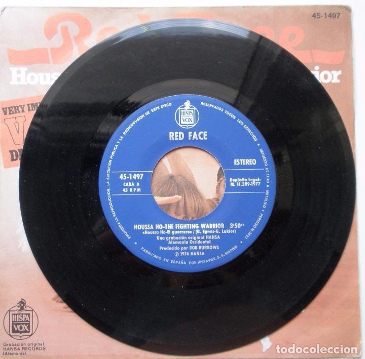 Discos de vinilo: RED FACE HOUSSE HO DEL AÑO 1977 ES UN SINGLE DE 2 CANCIONES ESPAÑOL - Foto 3 - 91655535
