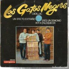 Discos de vinilo: EP LOS GATOS NEGROS : CADILLAC + 3 . Lote 91664665