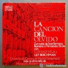 Discos de vinilo: LA CANCION DEL OLVIDO - ROMERO, SHAW, SERRANO - LUIS SAGI VELA / LILY BERCHMAN - EP MONTILLA 1959. Lote 91669230