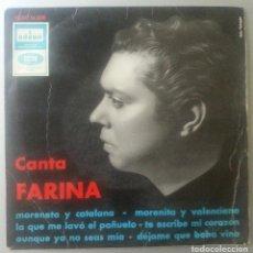Discos de vinilo: CANTA FARINA RAFAEL SINGLE 1968 ODEON ?– DSOE 16,608 MORENETA Y CATALANA - MORENITA Y VALENCIANA. Lote 91697955