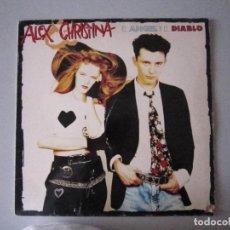 Discos de vinilo: LP - POP - ALEX Y CHRISTINA (EL ANGEL Y EL DIABLO) - 1989 - MADRID. Lote 91729235