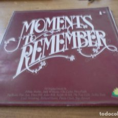 Discos de vinilo: MOMENTS TO REMEMBER. 18 ORIGINAL TRACKS . Lote 91732890