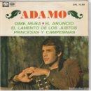 Discos de vinilo: ADAMO (EN ESPAÑOL) / DIME MUSA + 3 (EP 1968). Lote 91733955