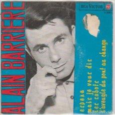 Disques de vinyle: ALAIN BARRIERE / ESPERA + 3 (EP 1965). Lote 91734470