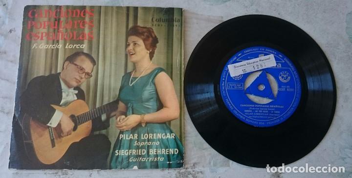 PILAR LORENGAR. CANCIONES POPULARES ESPAÑOLAS: ZORONGO + 4 (COLUMBIA 1960) (Música - Discos de Vinilo - EPs - Clásica, Ópera, Zarzuela y Marchas)