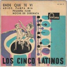 Discos de vinilo: LOS 5 LATINOS / ENDE QUE TE VI + 3 (EP 1959). Lote 91781900