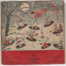 Discos de vinilo: CUENTOS INFANTILES / LA RATITA / LOS TRES HIJOS DEL REY (EP 1959). Lote 91782990