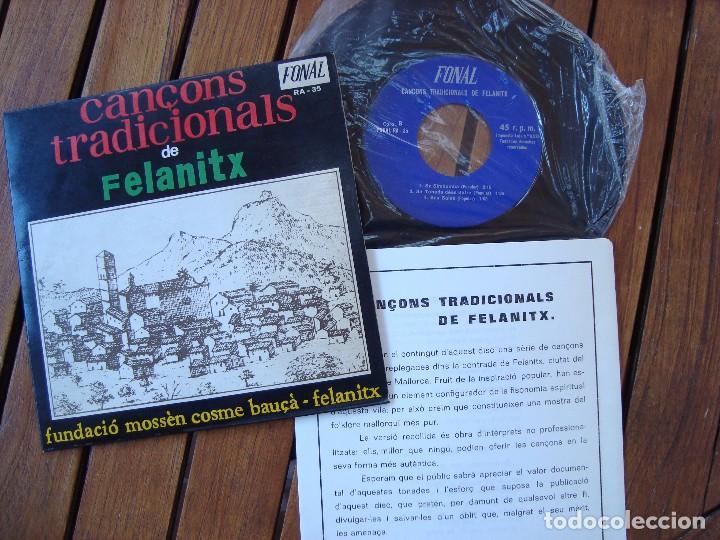 Discos de vinilo: CANÇONS TRADICIONALS DE FELANITX. DISCOS FONAL. PALMA DE MALLORCA. - Foto 2 - 91800525
