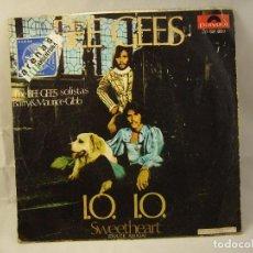 Discos de vinilo: THE BEE GEES / I.O.I.O. / SWEETHEART (SINGLE 1970). Lote 91810290