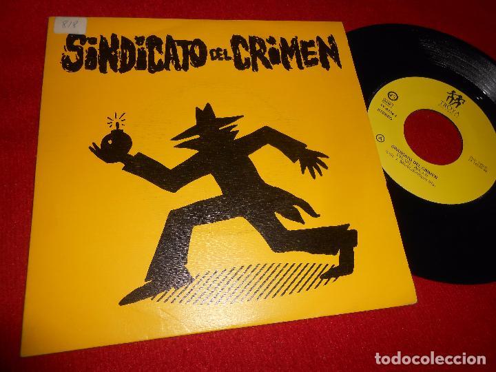 SINDICATO DEL CRIMEN UH,UH-AH,AH SINGLE 7'' 1990 DOBLE CARA TROYA HIP HOP RAP NACIONAL (Música - Discos - Singles Vinilo - Rap / Hip Hop)