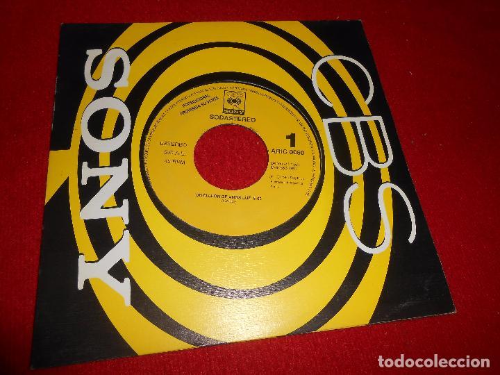 SODASTEREO UN MILLON DE AÑOS LUZ SINGLE 7'' 1991 PROMO UNA CARA CBS SODA STEREO ESPAÑA SPAIN (Música - Discos - Singles Vinilo - Grupos y Solistas de latinoamérica)